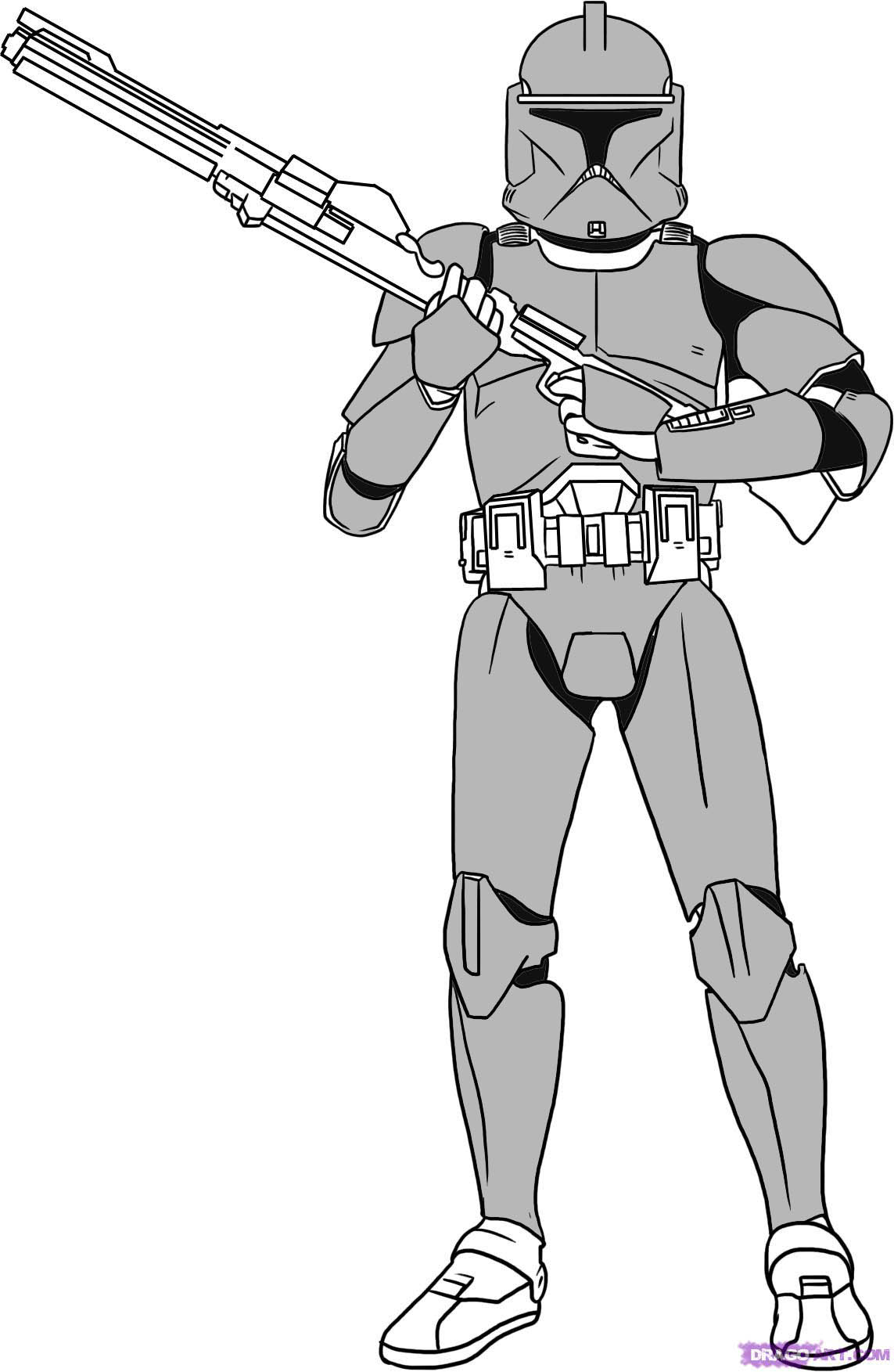 clone trooper coloring pages - color outline assignment andycox57